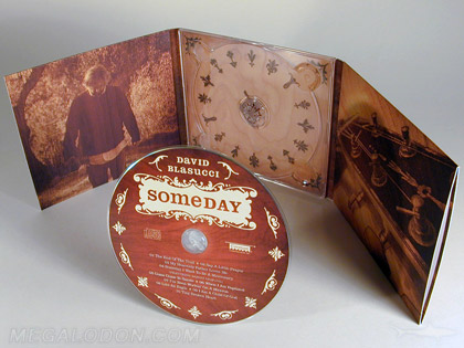 retro cd packaging with disc