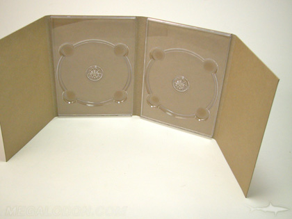 unprinted digipak dvd packaging two disc trays