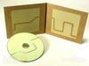 fiberboard cd packaging 4 panel jacket recycled pantone disc knockout